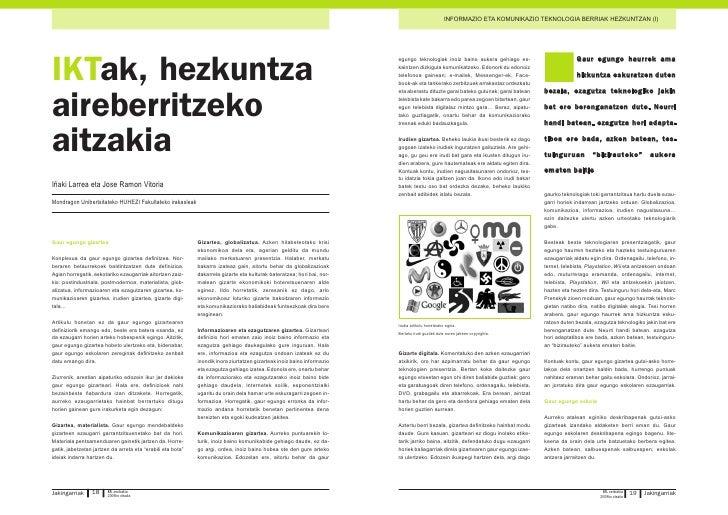 INFORMAZIO ETA KOMUNIKAZIO TEKNOLOGIA BERRIAK HEZKUNTZAN (I)                                                              ...