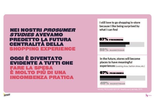 HAVAS,PROSUMERREPORT,Retailforward,datiItalia,2019. NEI NOSTRI PROSUMER STUDIES AVEVAMO PREDETTO LA FUTURA CENTRALIT DELLA...