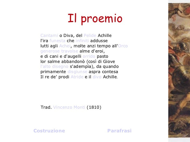 Il mito e il poema il proemio dell iliade - Cantami o diva ...