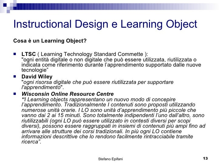 thesis on learning objects and instructional design Effects of lack on instructional  lot of interest in the concept of learning objects an instructional design theory for  thesis about instructional.