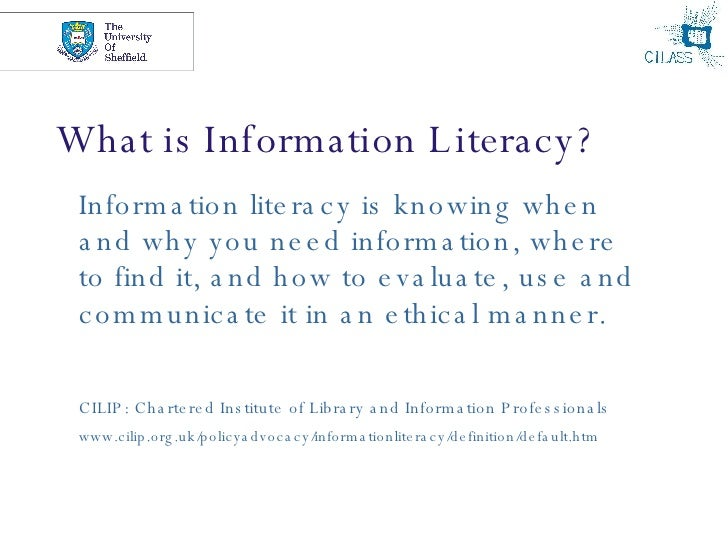 A discussion on the information literacy