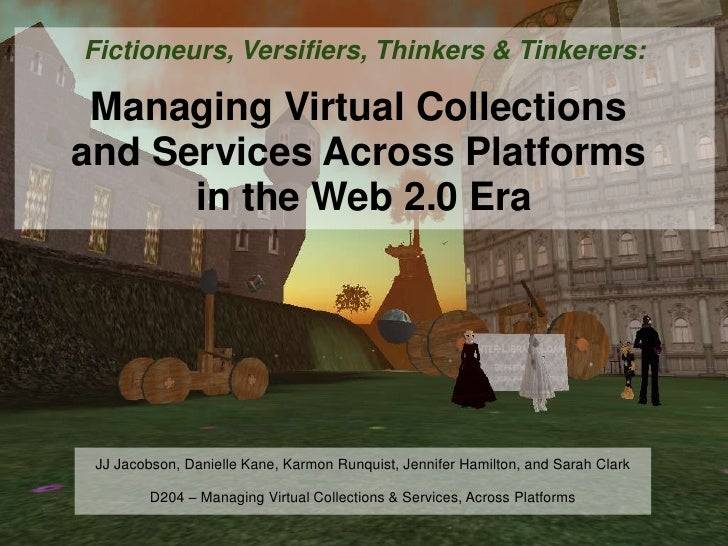 Fictioneurs, Versifiers, Thinkers & Tinkerers slides with text