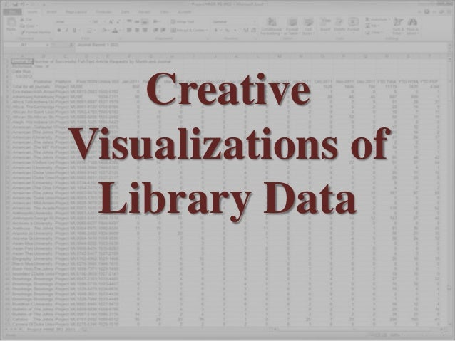CreativeVisualizations of Library Data
