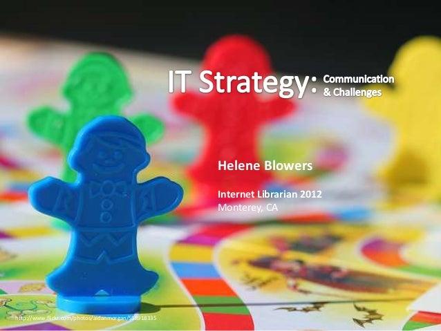 Helene Blowers                                                     Internet Librarian 2012                                ...