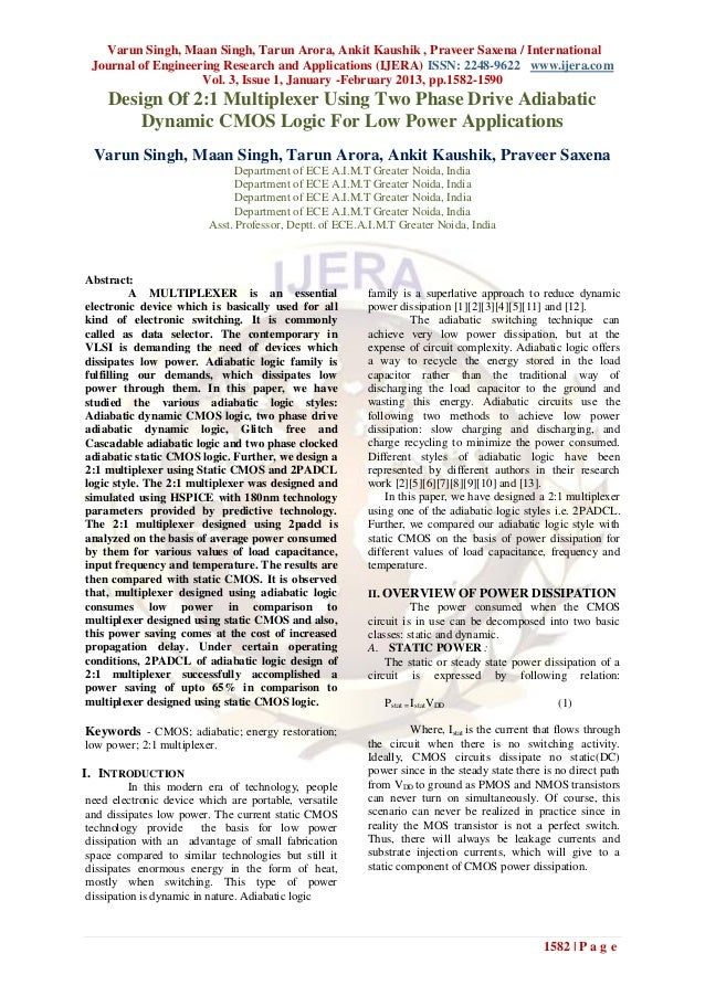 Varun Singh, Maan Singh, Tarun Arora, Ankit Kaushik , Praveer Saxena / International Journal of Engineering Research and A...