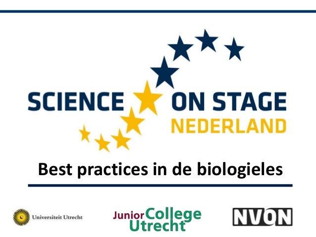 Best practices in de biologieles