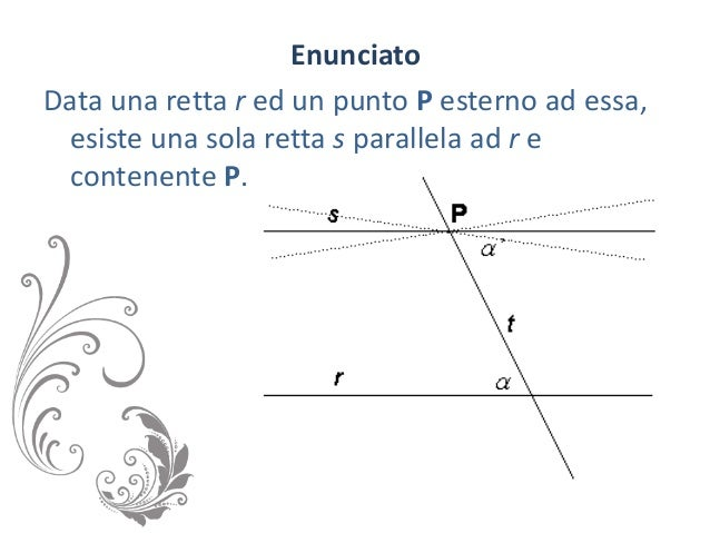 Il 5 postulato di euclide for Punto p esterno ad una circonferenza