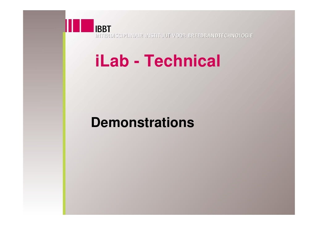 iLab - Technical   Demonstrations