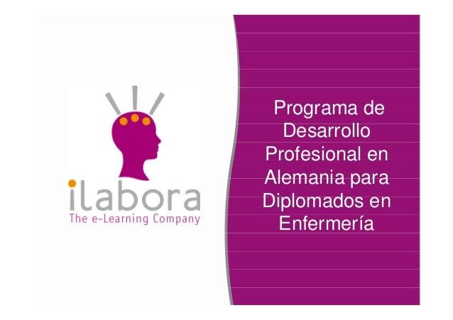 Programa deDesarrolloProfesional enAlemania paraDiplomados enEnfermería