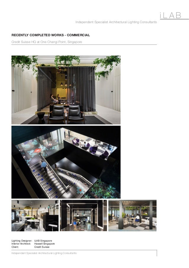 Independent Specialist Architectural Lighting Consultants Independent Specialist Architectural Lighting Consultants i L A ...