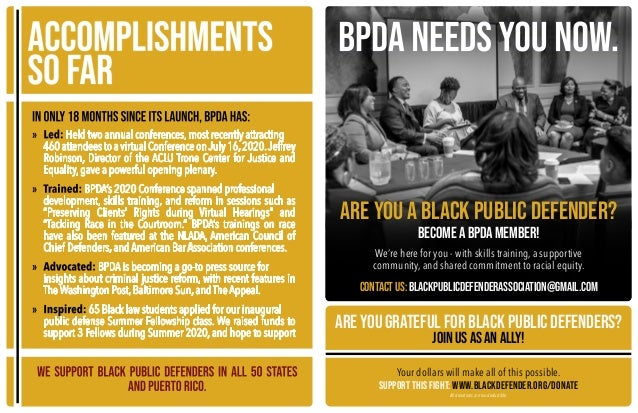 Learn more:www.blackdefender.org CONTACT US:BlackPublicDefenderAssociation @gmail.com SUPPORT THIS FIGHT:www.blackdefender...
