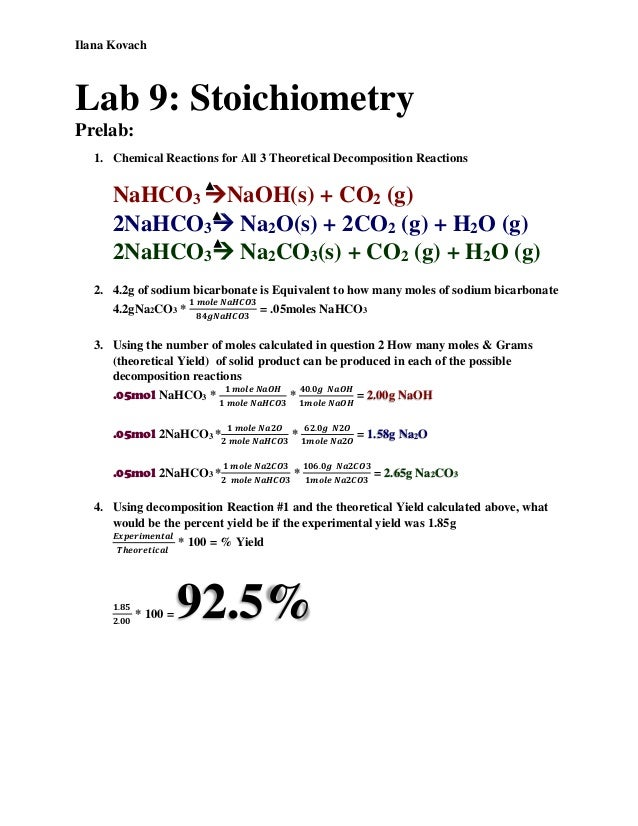 chemistry 1 stoichiometry lab essay example View lab report - stoichiometry and a precipitation reaction from chm 101 at burns high school 1 stoichiometry and a precipitation reaction introduction chemistry is full of chemical equations which.