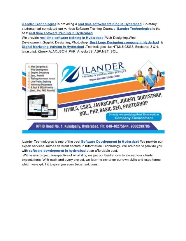 iLander- Web Designing, Development & Software Training in hyderabad