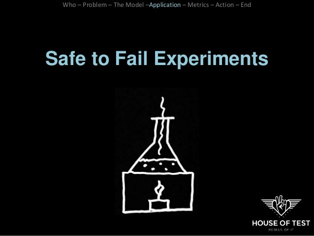 Safe to Fail Experiments Who – Problem – The Model –Application – Metrics – Action – End