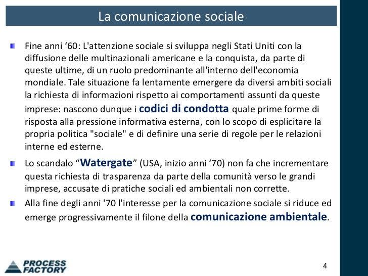 Il bilancio sociale process factory for Scandalo di watergate