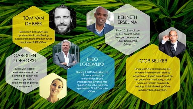 TOM VAN DE BEEK Betrokken sinds 2011 als oprichter van I Love Beeing, social creatief ondernemer, Chief Inspiration & PR O...