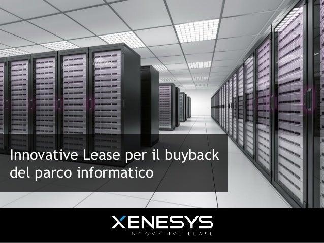 Innovative Lease per il buyback del parco informatico