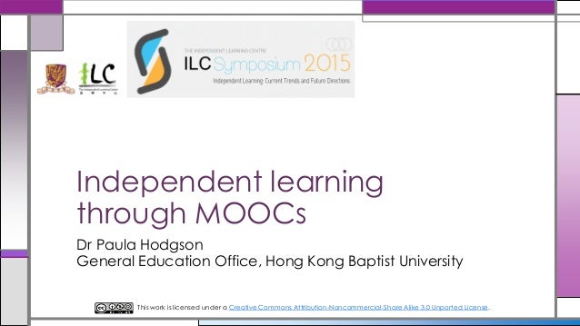 Independent learning through Massive Open Online Courses