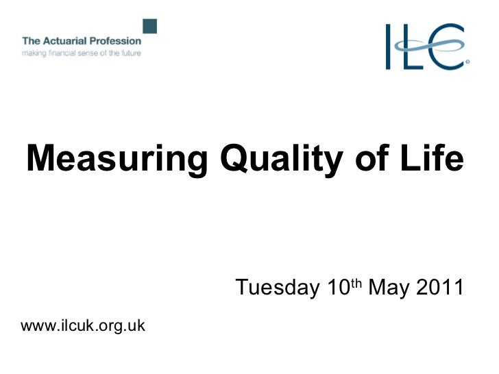 definition of quality of life pdf