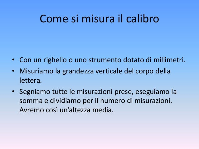 Personalit e scrittura il calibro - Cos e la portata di uno strumento di misura ...