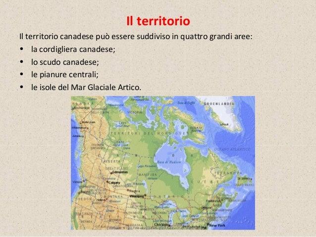 Canada Cartina Fisica.Il Canada
