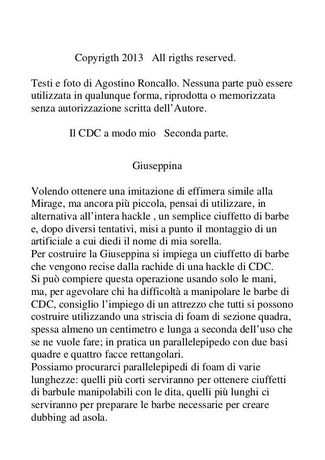 Copyrigth 2013 All rigths reserved.Testi e foto di Agostino Roncallo. Nessuna parte può essereutilizzata in qualunque form...