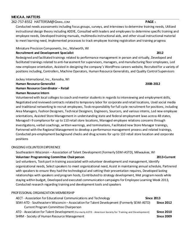 3 - Instructional Designer Resume