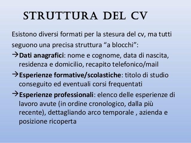 Il colloquio di lavoro 2 - Domicilio e residenza diversi ...