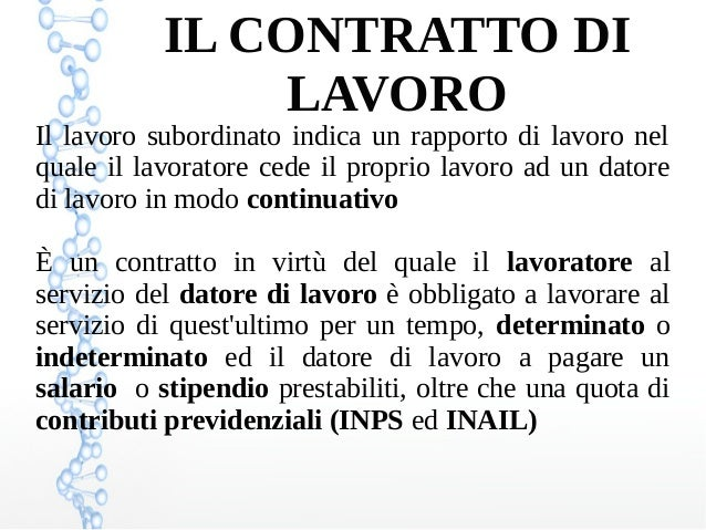 Il Contratto di Lavoro