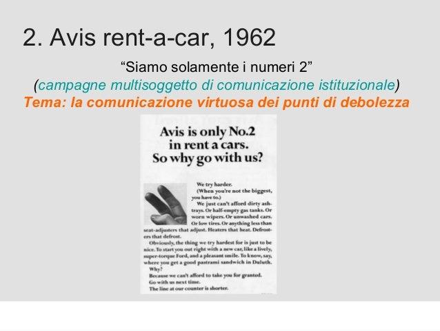 """Proforma / Un blog aziendale: perché? 2. Avis rent-a-car, 1962 """"Siamo solamente i numeri 2"""" (campagne multisoggetto di com..."""