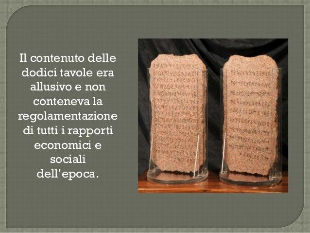 Il decemvrirato legislativo e le dodici tavole - Le 12 tavole romane ...