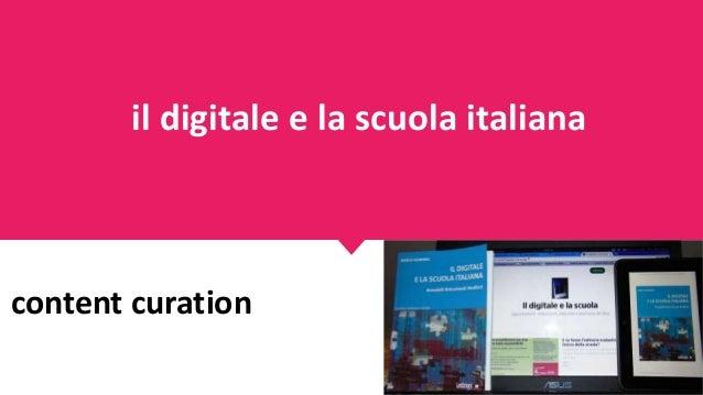 content curation il digitale e la scuola italiana