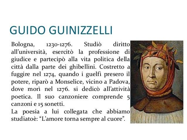 Guido Guinizelli giorgio parenti