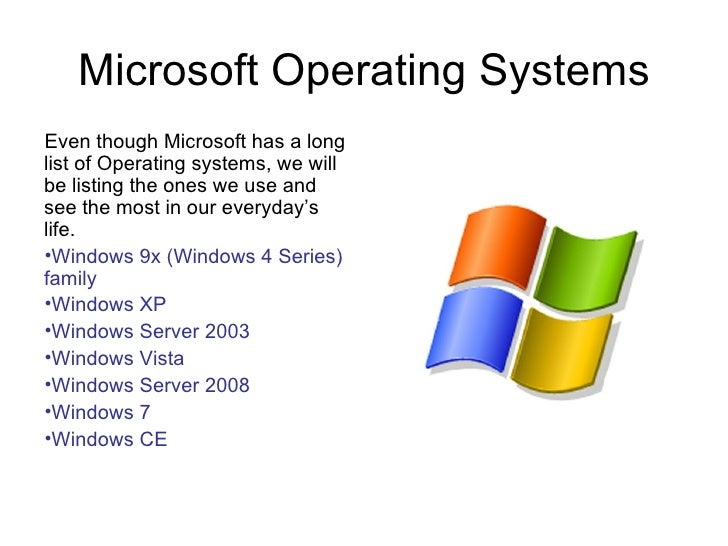 operating system and microsoft corporation Microsoft is the leading supplier of operating systems for pcs the company  transacts business in all fifty of the united states and in most countries around  the.