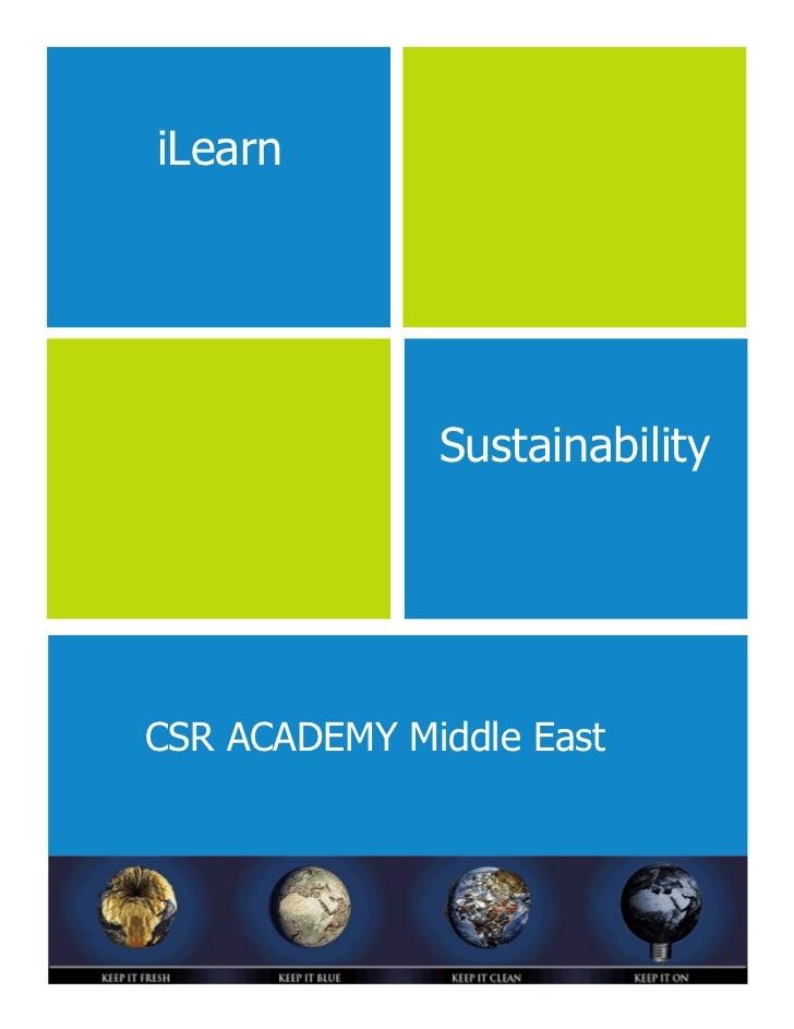 iLearn              SustainabilityCSR ACADEMY Middle East