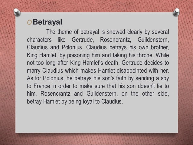 theme of betrayal in hamlet