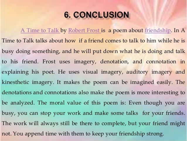 an analysis of the works of frost This poem analysis of fire and ice by robert frost doesn't just give you the information, it shows you how to do your own analysis step.