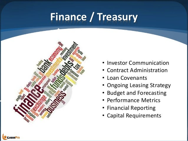 Finance / Treasury • Investor Communication • Contract Administration • Loan Covenants • Ongoing Leasing Strategy • Budget...