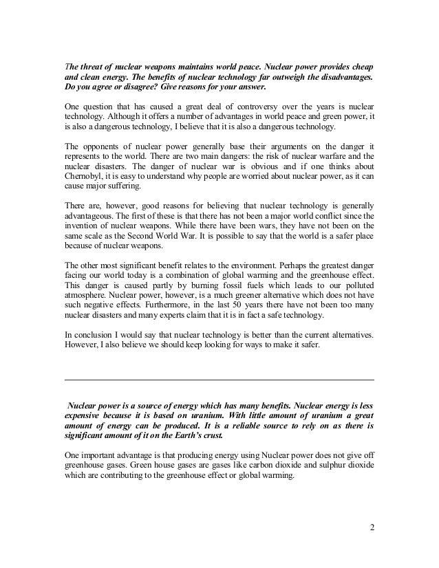essay on nuclear energy - Toha