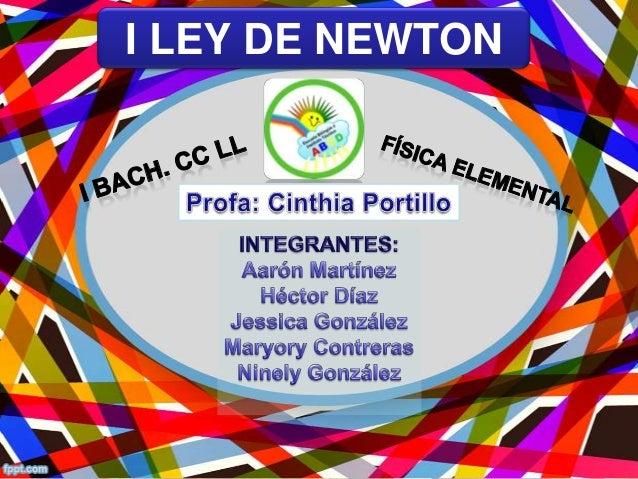 I LEY DE NEWTON