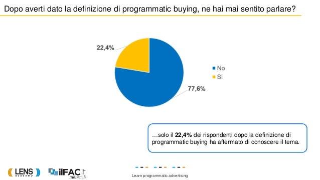 Learn programmatic advertising Dopo averti dato la definizione di programmatic buying, ne hai mai sentito parlare? …solo i...