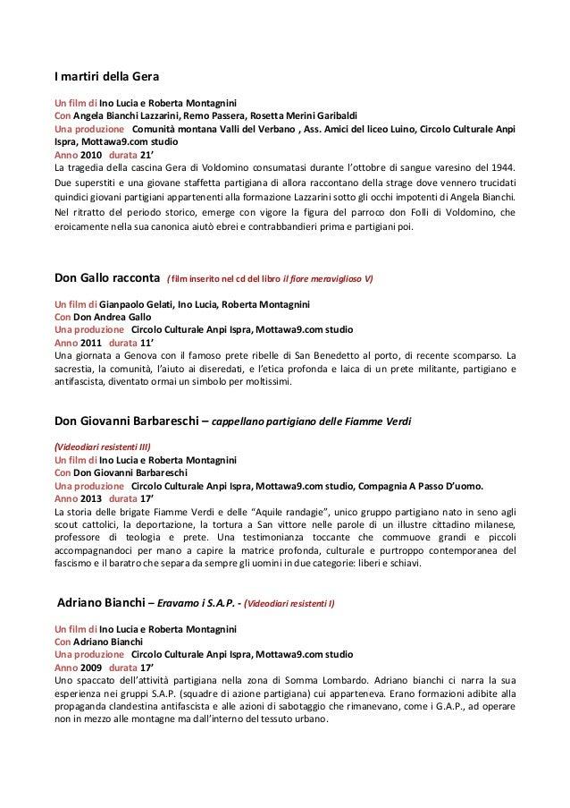I martiri della Gera Un film di Ino Lucia e Roberta Montagnini Con Angela Bianchi Lazzarini, Remo Passera, Rosetta Merini ...