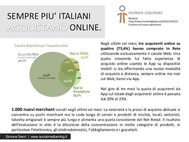 Negli ultimi sei mesi, tre acquirenti online su quattro (75,4%) hanno comprato in Rete utilizzando esclusivamente il canal...