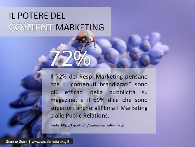 """Il 72% dei Resp. Marketing pensano che i """"contenuti brandizzati"""" sono più efficaci della pubblicità su magazine, e il 69% ..."""