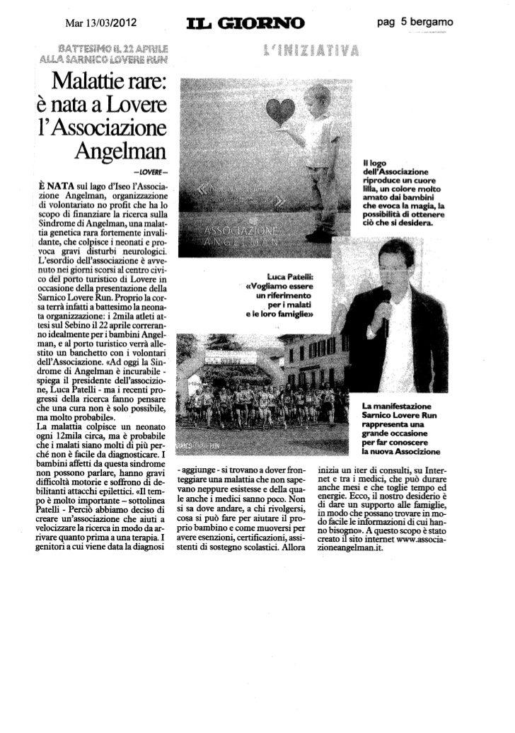 Associazione Angelman, la ricerca sulla Sindrome di Angelman ha in Lombardia un nuovo alleato.