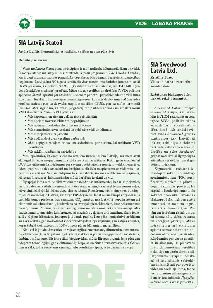 Ilgtspējas indekss: Pārskats 2010
