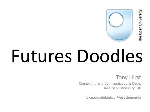 Futures Doodles Tony Hirst Computing and Communications Dept, The Open University, UK blog.ouseful.info / @psychemedia