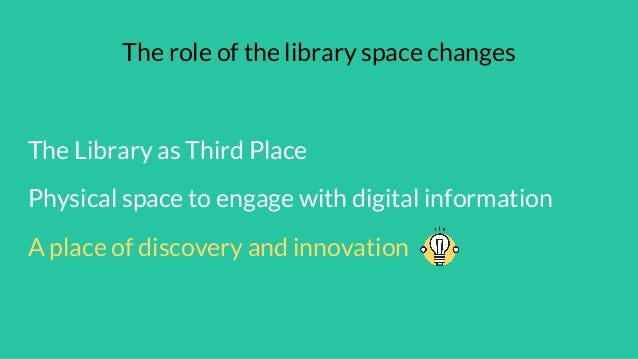 #ILI2017 Interactive library spaces – creating new user experiences with digital tech, with Kate Lomax and Carlos Izsak Slide 2
