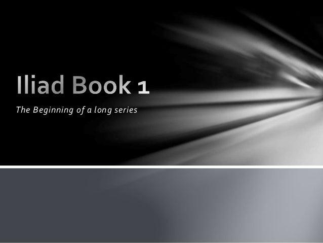 The iliad book one