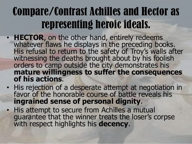 similarities between hector and achilles Death of hector and achilles from the story of the greeks by h a guerber.